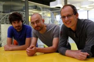 These ICFO researchers are: Adrian Bachtold, Joel Moser, Johannes Güttinger. (Credit: ICFO)