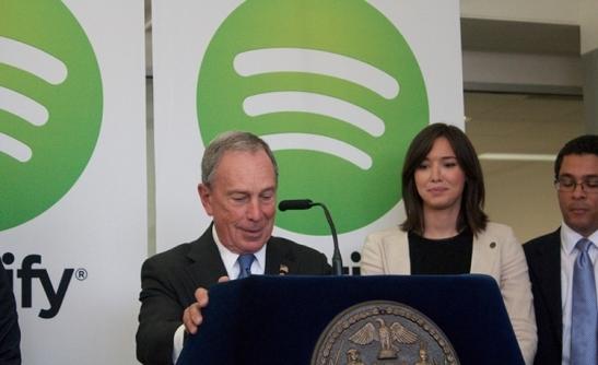 Spotify & NY Mayor Bloomeberg