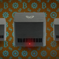 We take a Butterfly Labs Bitcoin miner, plug it in, and make it (virtually) rain.