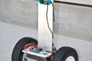 FFR is a robotic scout for firefighters developed by the Coordinated Robotics Lab at UC San Diego.  CREDIT: UCSD
