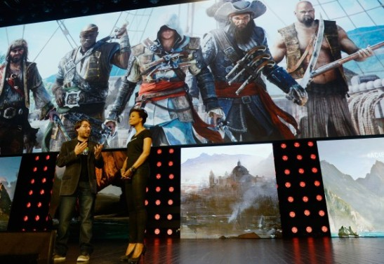 Kevork Djansezian/GETTY IMAGES - Game company Ubisoft said that its systems had been breached, granting hackers access to some personal information. Above, Jean Guesdon, creative director of Ubisoft Montreal, introduces Assassin's Creed IV : Black Flag during the Electronic Entertainment Expo on June 10, 2013 in Los Angeles, California.