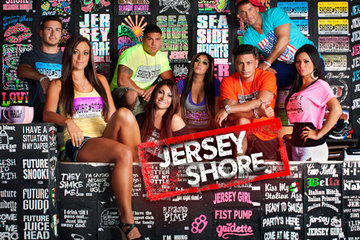 The cast of MTV's 'Jersey Shore' pose.  CREDIT: MTV