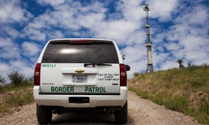 Customs and Border Protection currently uses some surveillance towers along the Mexican border. // United States Customs and Border Protection
