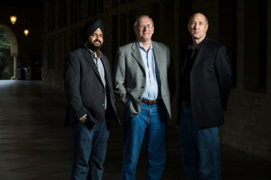 Ayasdi founders Gurjeet Singh, Gunnar Carlsson, and Harlan Sexton