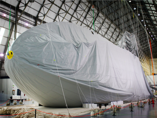 Goodyear is constructing its newest airship at a hangar in Mogadore, Ohio. Compared to its iconic blimp, the new craft will be longer, faster and more maneuverable.