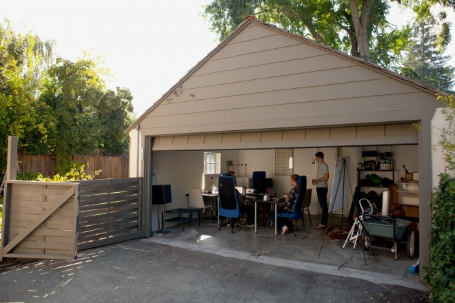 The Palo Alto garage where Alex Polvi and his old school chums, Brandon Philips and Michael Marineau, are building a new kind of computer operating system. Photo: Alex Washburn / WIRED