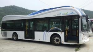 OLEV Bus is an electric vehicle that can be charged while stationary or driving. Credit: KAIST