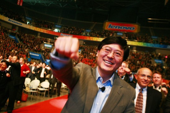 Yang Yuanqing, chief executive officer of Lenovo Group Ltd., poses for a photograph during a pledging conference in Beijing on April 20, 2010. Source: ChinaFotoPress/Getty Images